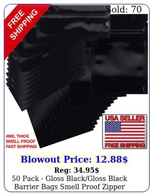 pack gloss blackgloss black barrier bags smell proof zipper resealabl