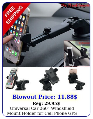 universal car windshield mount holder cell phone gps iphone samsung l
