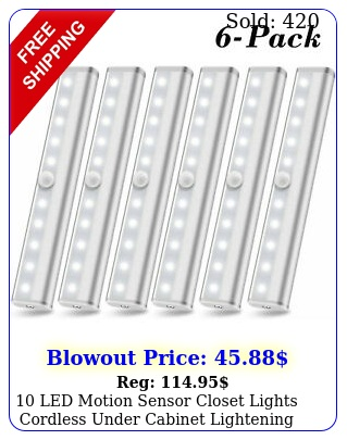 led motion sensor closet lights cordless under cabinet lightening bar pac