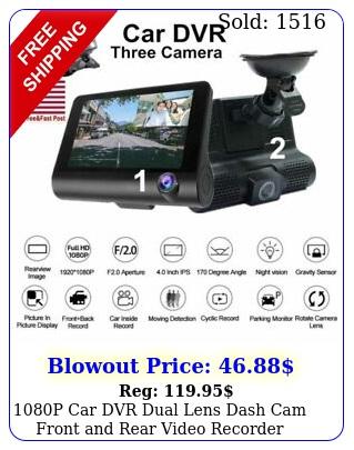 p car dvr dual lens dash cam front rear video recorder camera gsenso