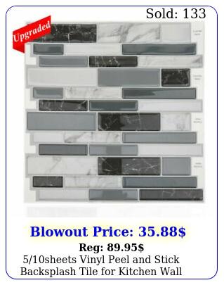 sheets vinyl peel stick backsplash tile kitchen wall smart mosai