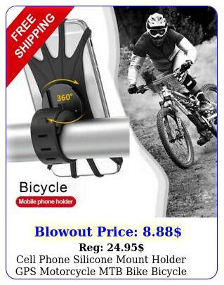 cell phone silicone mount holder gps motorcycle mtb bike bicycle rotation u