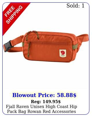 fjall raven unisex high coast hip pack bag rowan red accessories travel scho