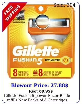 gillette fusion power razor blade refills packs of cartridges seale