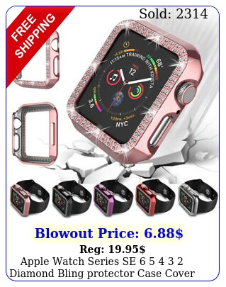 apple watch series se   diamond bling protector case cover m