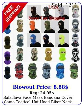 balaclava face mask bandana cover camo tactical hat hood biker neck gaiter scar