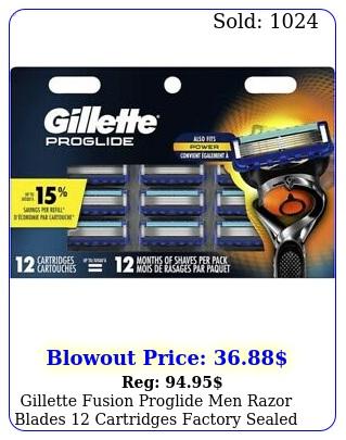 gillette fusion proglide men razor blades cartridges factory seale