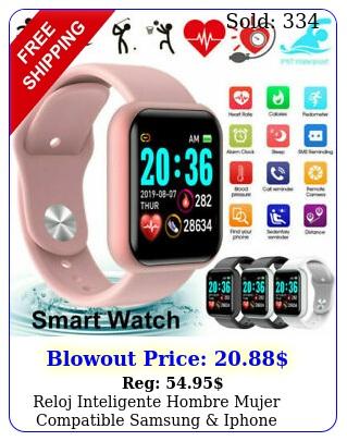 reloj inteligente hombre mujer compatible samsung iphone bluetooth smart watc