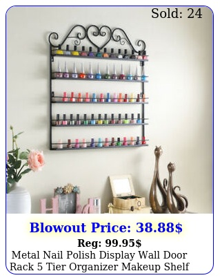 metal nail polish display wall door rack tier organizer makeup shelf holder u