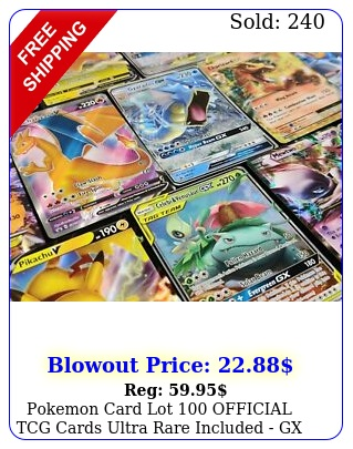 pokemon card lot official tcg cards ultra rare included gx ex mega or