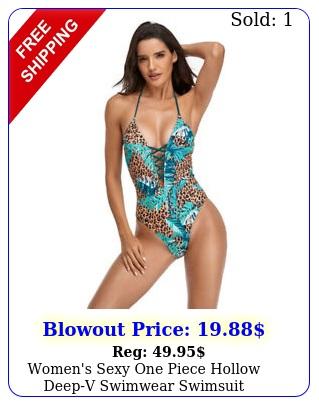 women's sexy one piece hollow deepv swimwear swimsuit beachwear bathing sui
