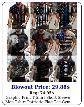t shirt men tshirt patriotic print usa flag tactical muscle workout activewea