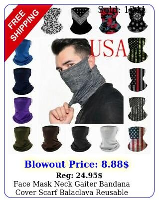 face mask neck gaiter bandana cover scarf balaclava reusable washable breathabl