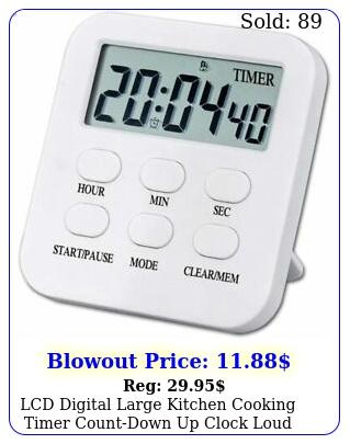 lcd digital large kitchen cooking timer countdown up clock loud alarm magneti