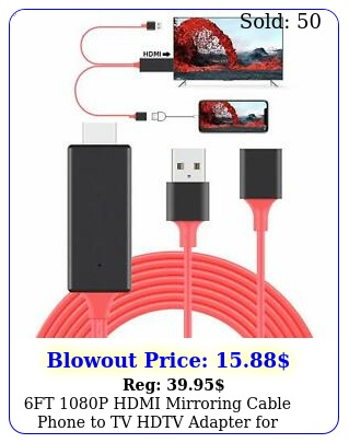 ft p hdmi mirroring cable phone to tv hdtv adapter iphone ipad androi