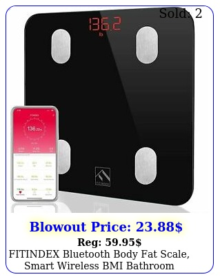 fitindex bluetooth body fat scale smart wireless bmi bathroom weight scale bod
