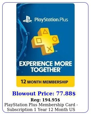 playstation plus membership card subscription year month u