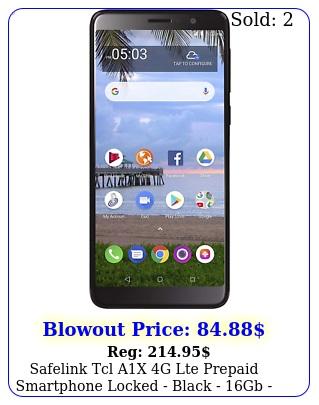 safelink tcl ax g lte prepaid smartphone locked black gb sim car