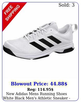 adidas mens running shoes white black men's athletic sneaker fast free shi