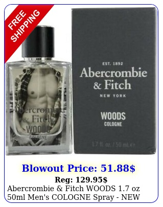 abercrombie fitch woods oz ml men's cologne spray in sealed bo