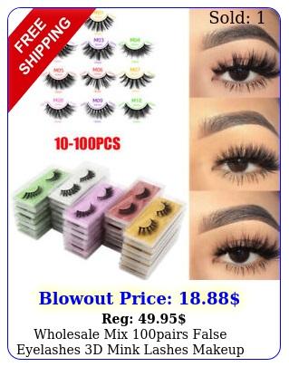 wholesale mix pairs false eyelashes d mink lashes makeup natural eyelashe