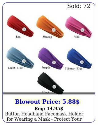 button headband facemask holder wearing a mask protect your ears headban