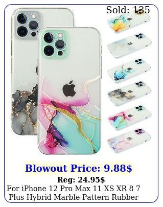 iphone pro max xs xr  plus hybrid marble pattern rubber case cove