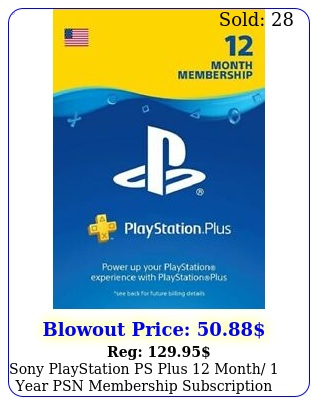 sony playstation ps plus month year psn membership subscriptio