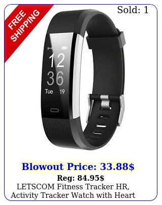 letscom fitness tracker hr activity tracker watch with heart rate monitor
