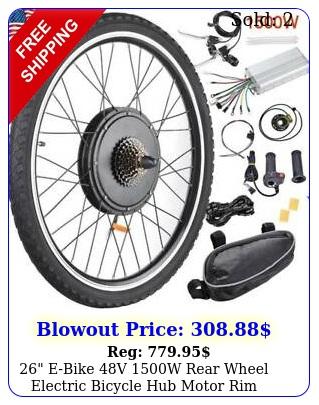 ebike v w rear wheel electric bicycle hub motor rim conversion ki