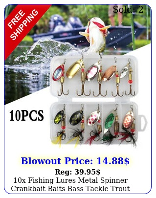 x fishing lures metal spinner crankbait baits bass tackle trout spoon se
