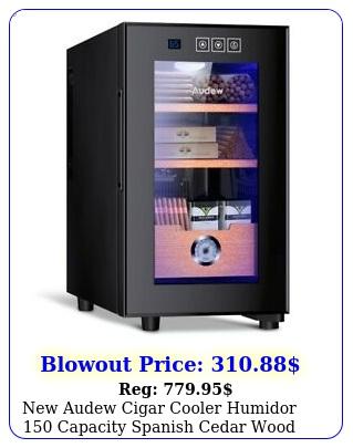 audew cigar cooler humidor capacity spanish cedar wood shelves tra