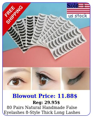 pairs natural handmade false eyelashes style thick long lashes fake lashe
