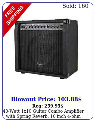 watt x guitar combo amplifier with spring reverb inch ohm speake
