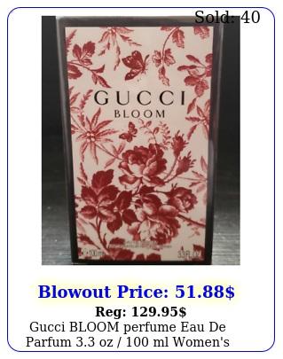 gucci bloom perfume eau de parfum oz  ml women's new seale