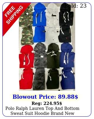 polo ralph lauren top bottom sweat suit hoodie brand complete se