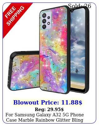 samsung galaxy a g phone case marble rainbow glitter bling tpu cove