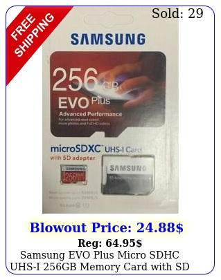 samsung evo plus micro sdhc uhsi gb memory card with sd adapte