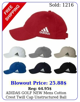 adidas golf mens cotton crest twill cap unstructured ball hat adjustable