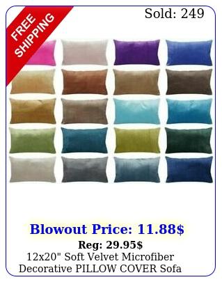 x soft velvet microfiber decorative pillow cover sofa lumbar cushion cas