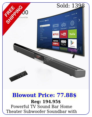 powerful tv sound bar home theater subwoofer soundbar with bluetooth wireles