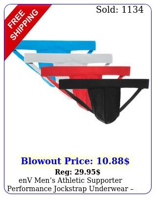 env mens athletic supporter performance jockstrap underwear different color