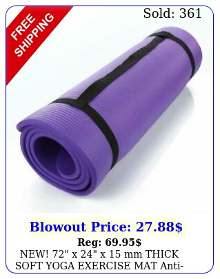 new x x mm thick soft yoga exercise mat antiskid pad purpl