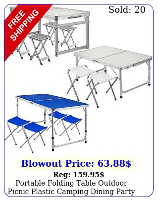 portable folding table outdoor picnic plastic camping dining party indoo
