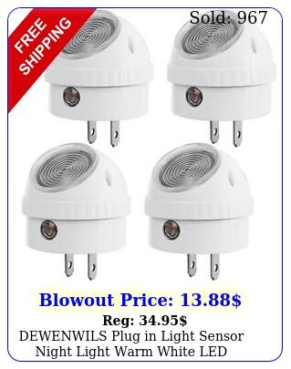 dewenwils plug in light sensor night light warm white led bedroom lights hpsl