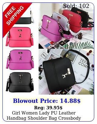 girl women lady pu leather handbag shoulder bag crossbody tote messenger satche