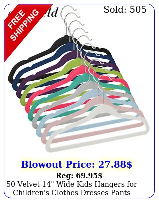 velvet wide kids hangers children's clothes dresses pants shirt