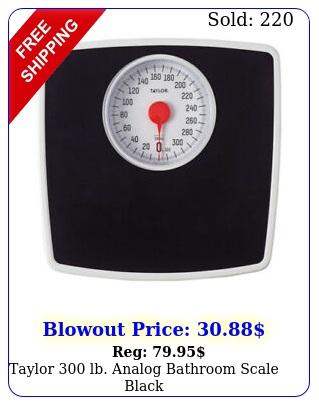 taylor  lb analog bathroom scale blac