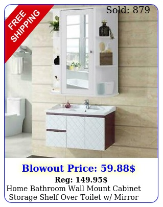 home bathroom wall mount cabinet storage shelf over toilet w mirror doo