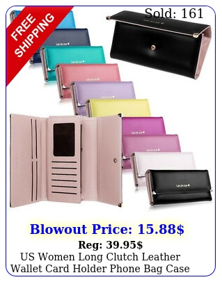 us women long clutch leather wallet card holder phone bag case purse handbag